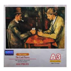 The Card Players People Miniature Puzzle
