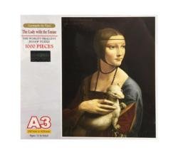 The Lady with the Emine Fine Art Miniature Puzzle