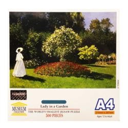 Lady in Garden Garden Miniature Puzzle