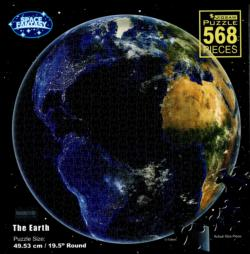 The Earth Space Round Jigsaw Puzzle