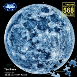 The Moon Space Round Jigsaw Puzzle