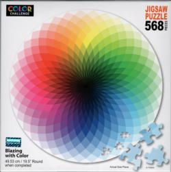 Kaleidoscope Graphics / Illustration Round Jigsaw Puzzle