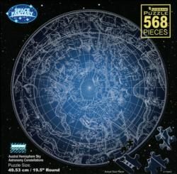 Astronomy Constellations Stars Round Jigsaw Puzzle