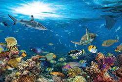 Underwater Paradise Under The Sea Round Jigsaw Puzzle