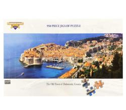 The old town of Dubrovnik Seascape / Coastal Living Panoramic Puzzle