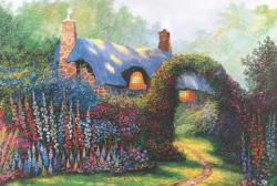 Floral Arch Cottage / Cabin Jigsaw Puzzle