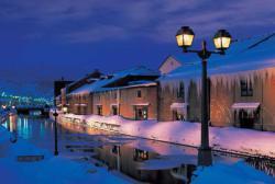 Otaro Canal at Night, Japan Snow Jigsaw Puzzle