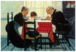 Saying Grace - Scratch and Dent Domestic Scene Jigsaw Puzzle