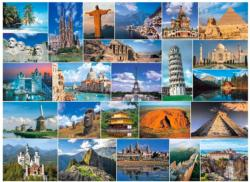 Wonders of the World Collage Jigsaw Puzzle