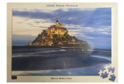 Mont St. Michel, France Seascape / Coastal Living Jigsaw Puzzle