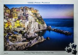 Picturesque Village Manarola Seascape / Coastal Living Jigsaw Puzzle