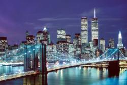 Brooklyn Bridge, USA (Glow) New York Jigsaw Puzzle