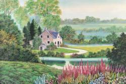 Beautiful Season Cottage / Cabin Jigsaw Puzzle