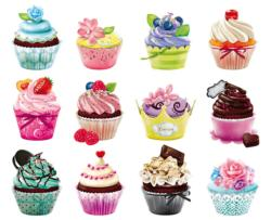 Cupcakes I Pattern / Assortment Jigsaw Puzzle