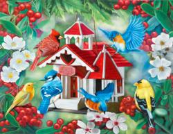 Friendly Neighbors Garden Jigsaw Puzzle