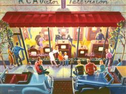 Public Television Street Scene Jigsaw Puzzle