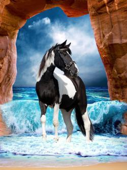 Storm Horses Large Piece