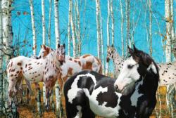 Birch Grove Horses Large Piece