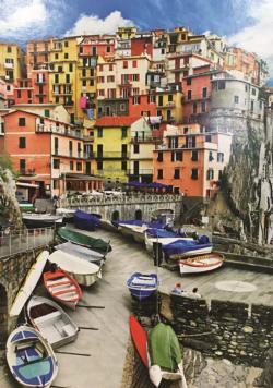 Colorful Village, Ligura, Italy Italy Jigsaw Puzzle
