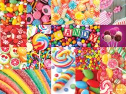 Colorful Candy (Collage Collection) Sweets Jigsaw Puzzle