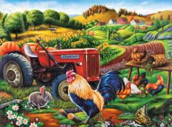 On the Farm Chickens & Roosters Jigsaw Puzzle