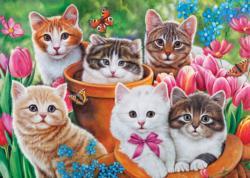 Garden Kittens Kittens Jigsaw Puzzle