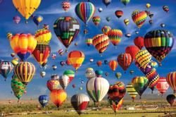 Hot Air Balloon Mass Ascension Albuquerque (Colorluxe 2000) Balloons Jigsaw Puzzle