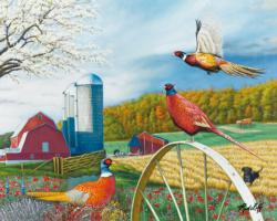 Pheasant Country Farm Jigsaw Puzzle