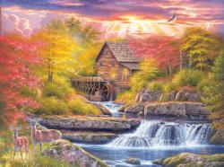 Glade Creek Mill Cottage / Cabin Jigsaw Puzzle