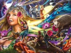 Queen of the Night Fairies Collage Jigsaw Puzzle