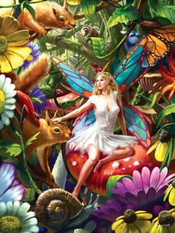 Summer Forest Fairy Flowers Jigsaw Puzzle
