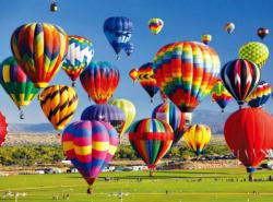 Balloons Take Flight, Albuquerque Landscape Jigsaw Puzzle
