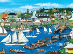 Port Townsend Seascape / Coastal Living Jigsaw Puzzle