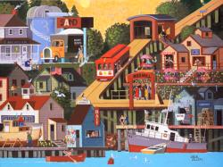 Nob Hill Seascape / Coastal Living Jigsaw Puzzle