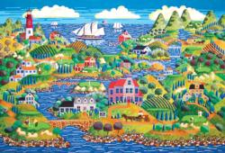 Greens by the Sea Seascape / Coastal Living Jigsaw Puzzle
