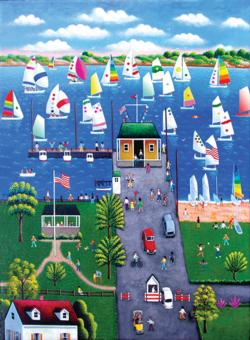 Regatta Seascape / Coastal Living Jigsaw Puzzle