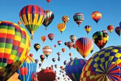 Balloon Mass Ascension Albuquerque Balloons Jigsaw Puzzle