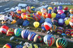 Hot Air Balloons on the Ground, Albuquerque Balloon Festival Balloons Jigsaw Puzzle
