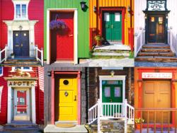 Colorful Doors - Scratch and Dent Collage Jigsaw Puzzle