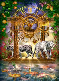 Magical Moment in Time Tigers Jigsaw Puzzle