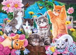 Playtime in the Garden Kittens Jigsaw Puzzle