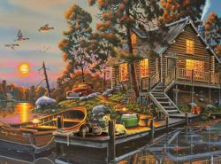 Duck Haven Sunrise/Sunset Jigsaw Puzzle