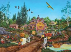 Antique Barn Birds Jigsaw Puzzle