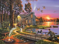 An Early Surprise Sunrise / Sunset Jigsaw Puzzle