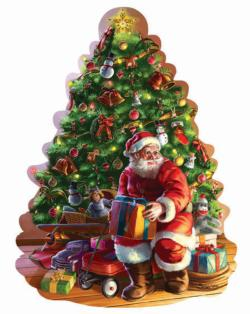 Santa and Tree Christmas Jigsaw Puzzle