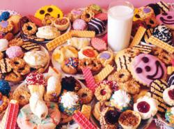 Milk and Lots o'Cookies Sweets Jigsaw Puzzle