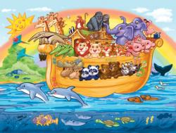Noahs Ark (Little Bible Stories) Cartoons Jigsaw Puzzle