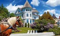 The Wedding Cake Cottage, Mackinac Island, MI Landmarks Jigsaw Puzzle