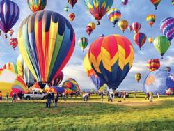Balloon Take-off Landscape Jigsaw Puzzle