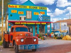 Gift shop on Route 66, Arizona Nostalgic / Retro Jigsaw Puzzle